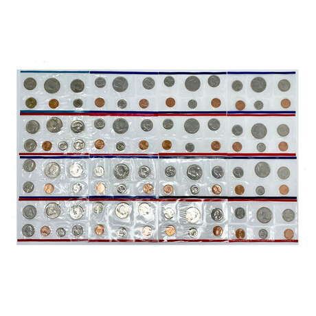 1980s U.S. Uncirculated Coin Sets // Decade Set (86 Coins)