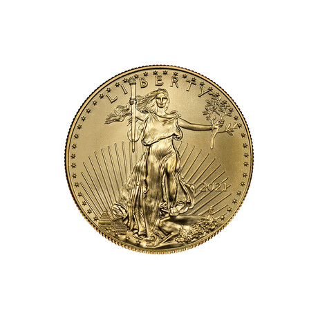 2021 1/10 oz American Gold Eagle (22 karat) // Mint State Condition // American Premier Series // Deluxe Display Box