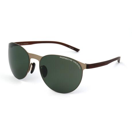 Porsche Design // Unisex P8660 Sunglasses // Gold