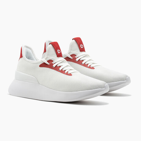 Duxs Runners // White + Red (US: 6)
