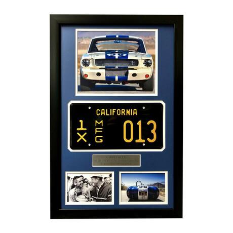 """""""Ford vs Ferrari"""" // Shelby's Ford Cobra Mustang Test Plate // Framed Collage"""