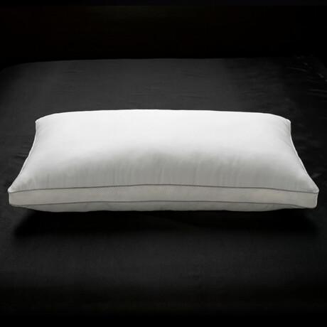 100% Cotton Mesh Gusseted Gel Fiber SOFT Pillow (Standard)