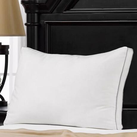 100% Cotton Mesh Gusseted Memory Fiber Pillow (Standard)