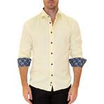 Peter Long Sleeve Button Up Shirt // Yellow (S)