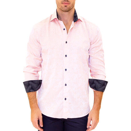 Wout Long Sleeve Button Up Shirt // Pink (XS)