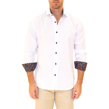Julian Long Sleeve Button Up Shirt // White (XS)