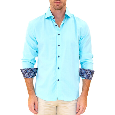 Peter Long Sleeve Button Up Shirt // Ocean (XS)