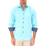 Peter Long Sleeve Button Up Shirt // Ocean (S)