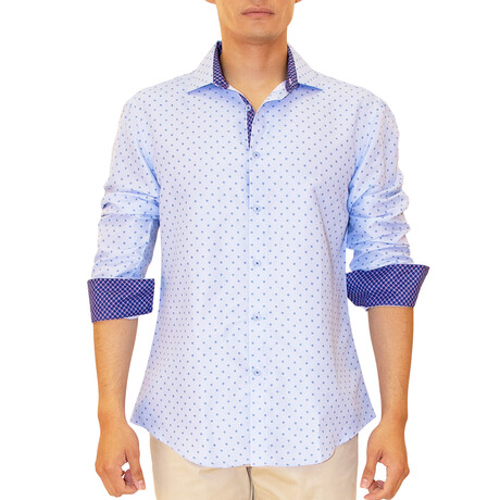 Greg Long Sleeve Button Up Shirt // Blue (XS)