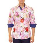 Simon Long Sleeve Button Up Shirt // Pink (S)