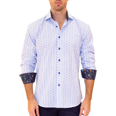 Jelle Long Sleeve Button Up Shirt // Blue (XS)