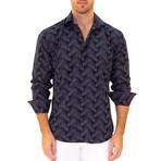 Nathan Long Sleeve Button Up Shirt // Navy (2XL)