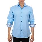 Edoardo Long Sleeve Button Up Shirt // Turquoise (XS)