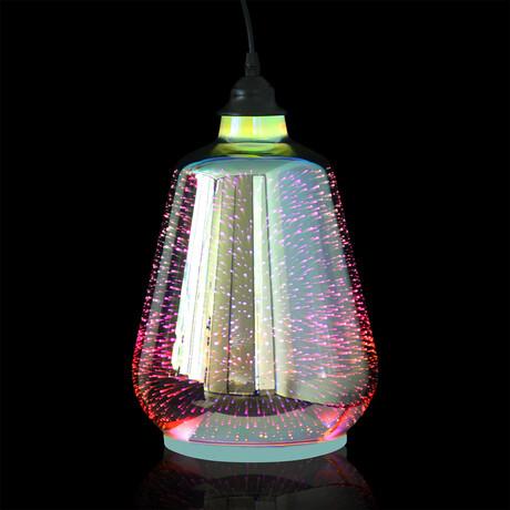 3D Fireworks Pendant Light // Tapered Drum