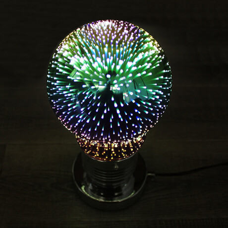3D Fireworks Table Lamp // Light Bulb