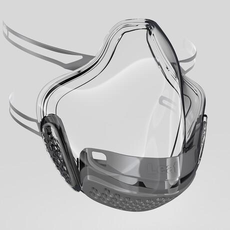 Leaf UV Mask + Filters // Gray (Standard // 1 Month Filter Supply)