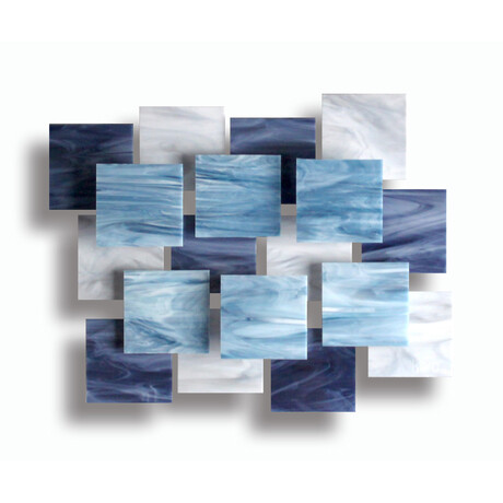 """Arctic AP"" Glass and Metal Wall Sculpture"