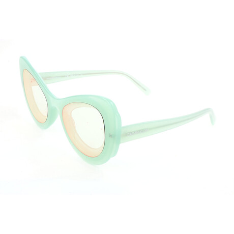 Women's CKNYC1950S Sunglasses // Milky Light Green
