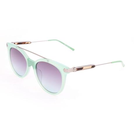 Women's CKNYC1871S Sunglasses // Milky Light Green
