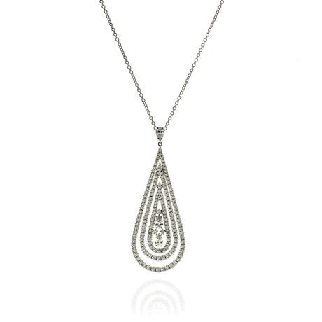 Damiani Regina Cleopatra 18k White Gold + Diamond Necklace // Store Display