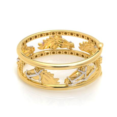 Roberto Coin Cheval 18k Yellow Gold + Diamond Bracelet // Store Display