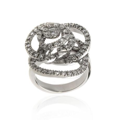 Damiani Bocciolo 18k White Gold Diamond Ring // Ring Size 7.5 // Store Display