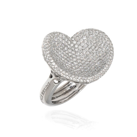 Pasquale Bruni In Love 18k White Gold + Diamond Ring // Ring Size 7.75 // Store Display