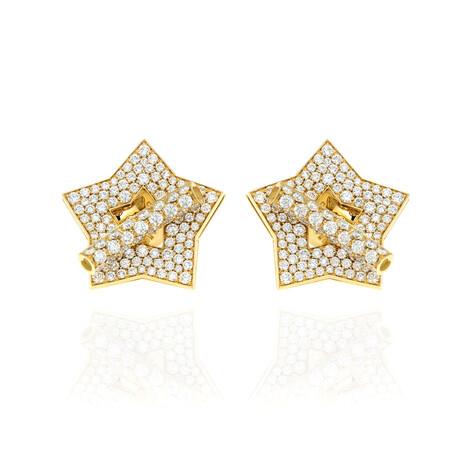 Pasquale Bruni Make Love 18k Yellow Gold + Diamond Earrings // Store Display