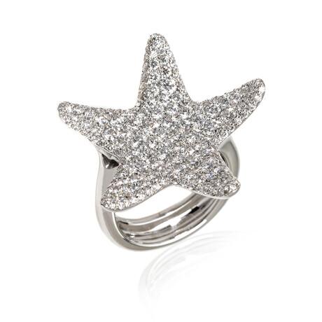 Pasquale Bruni Stella Nascente 18k White Gold + Diamond Ring // Ring Size 7 // Store Display