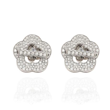 Pasquale Bruni Make Love 18k White Gold + Diamond Earrings // Store Display