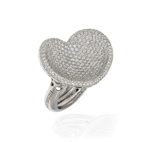 Pasquale Bruni In Love 18k White Gold + Diamond Ring // Ring Size 6.25 // Store Display