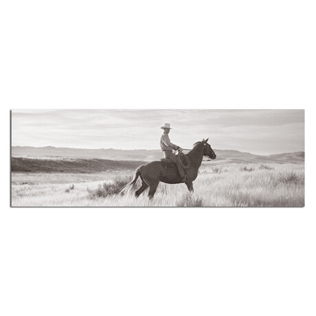 "Man On A Horse (48""W x 16""H x 0.5""D)"