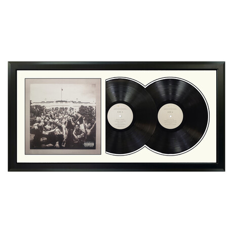 "Kendrick Lamar ""To Pimp A Butterfly"" Framed Double Record (White)"