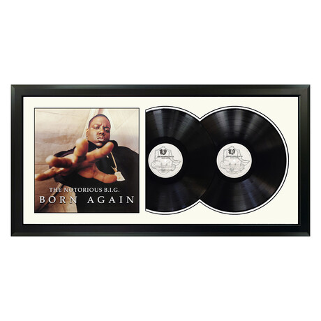 "The Notorious B.I.G. ""Born Again"" Framed Double Record (White)"