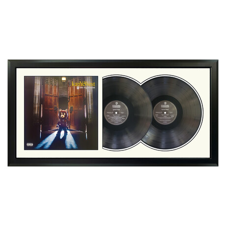 "Kanye West ""Late Registration"" Framed Double Record (White)"