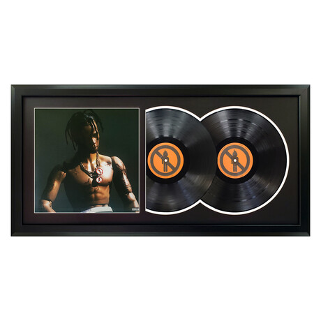 "Travis Scott ""Rodeo"" Framed Double Record (White)"