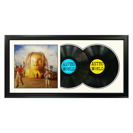 "Travis Scott ""Astroworld"" Framed Double Record (White)"