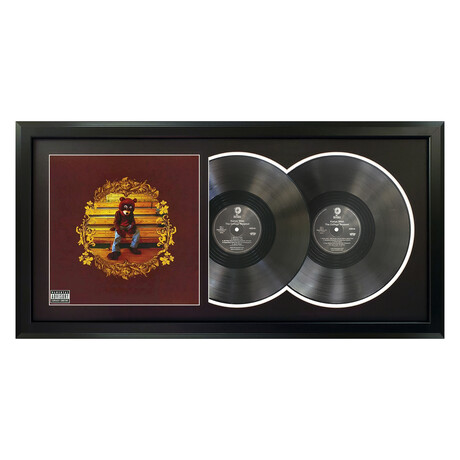 "Kanye West ""The College Dropout"" Framed Double Record (White)"