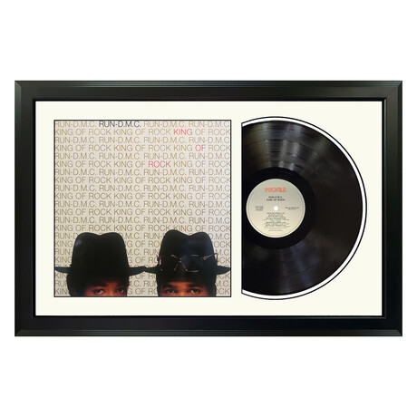 "RUN-D.M.C. ""King of Rock"" Framed Record (White)"