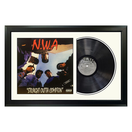 "N.W.A. ""Straight Outta Compton"" Framed Record (White)"