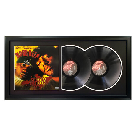 "Mobb Deep ""Murda Muzik"" Framed Double Record (White)"
