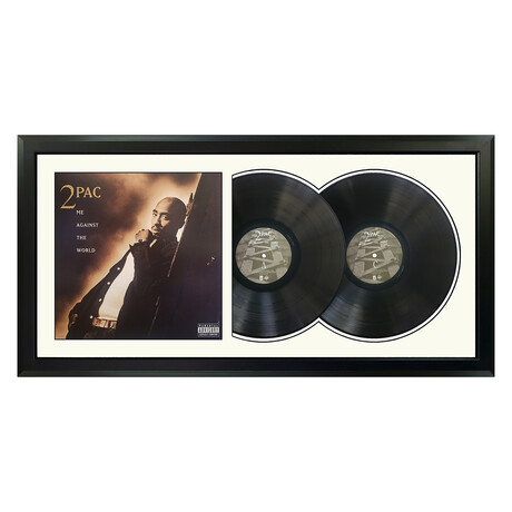 "2Pac ""Me Against the World"" Framed Double Record (White)"