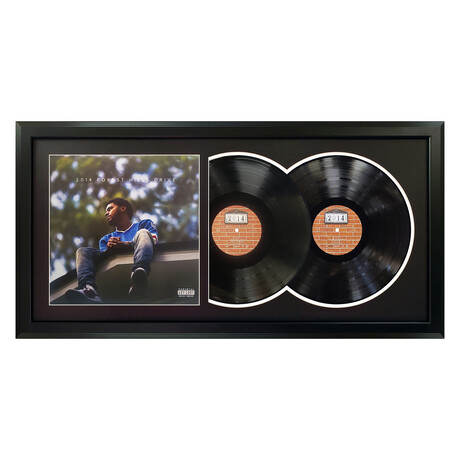 "J. Cole ""2014 Forest Hills Drive"" Framed Double Record (White)"