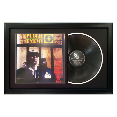 "Public Enemy ""It Takes a Nation of Millions to Hold Us Back"" Framed Record (White)"