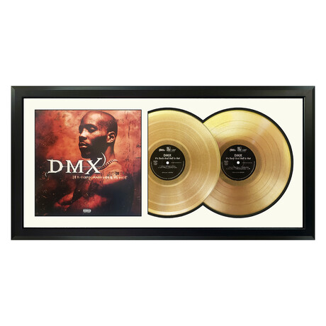 "DMX ""It's Dark and Hell is Hot"" Framed Double Record (White)"
