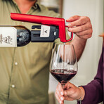 Timeless Six Wine Preservation System (Candy Apple Red)