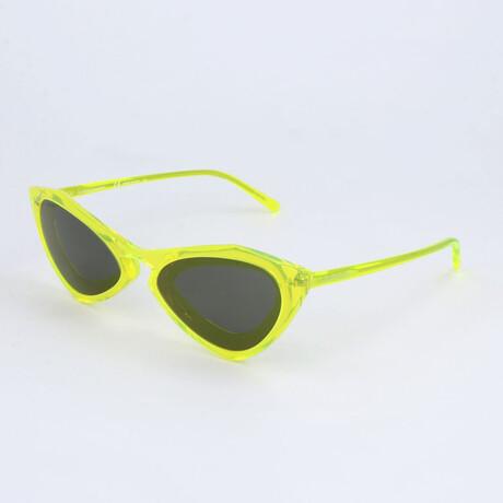 Unisex CKNYC1855SR Sunglasses // Crystal Neon Yellow