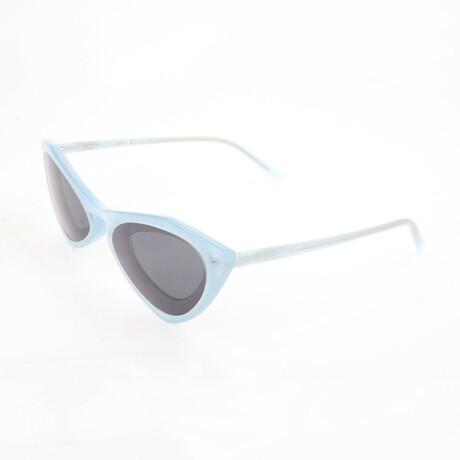 Unisex CKNYC1855SR Sunglasses // Milky Light Blue