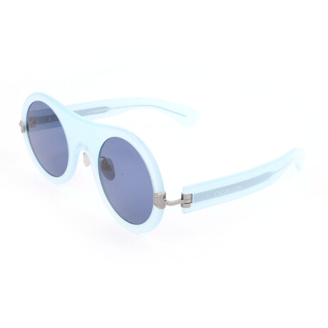 Unisex CKNYC1876SR Sunglasses // Milky Light Blue