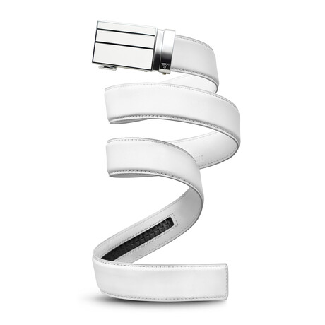 """40mm Best Sellers Leather Belt // White (Small // 28""""-32"""" Waist)"""